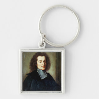 Portrait presumed to be Voltaire  as a young man Keychain