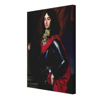Portrait Prince Edward of Palatinate in Armour Canvas Print