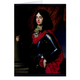 Portrait Prince Edward of Palatinate in Armour Card