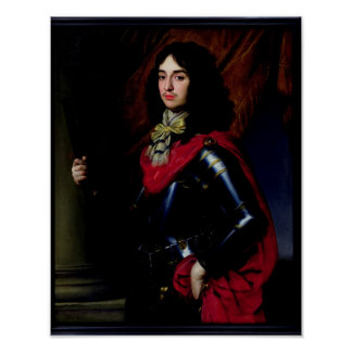 Portrait Prince Edward of Palatinate in Armour Poster