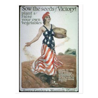Portrait_Propaganda poster Postcard