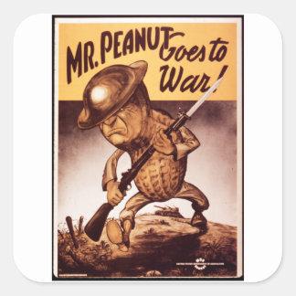 Portrait_Propaganda poster Square Sticker