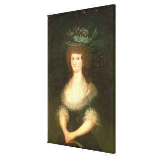 Portrait Queen Maria Luisa  wife of King Canvas Print