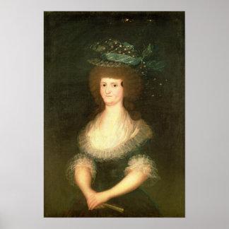 Portrait Queen Maria Luisa  wife of King Poster