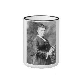 "PORTRAIT ""QUIRINE"" (1880s) Ringer Coffee Mug"