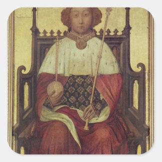 Portrait Richard II 'The Westminster Portrait' Square Sticker