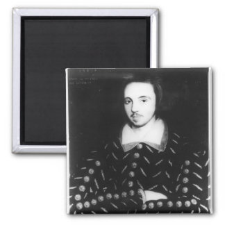 Portrait said to be Christopher Marlowe 2 Inch Square Magnet
