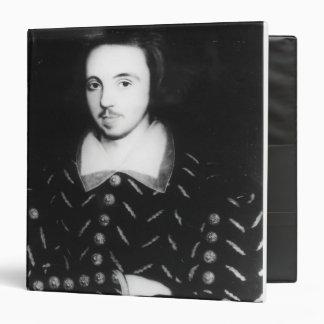 Portrait said to be Christopher Marlowe Binder
