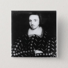 Portrait said to be Christopher Marlowe Button