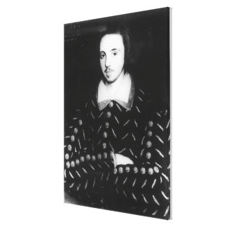 Portrait said to be Christopher Marlowe Canvas Print