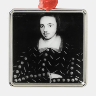 Portrait said to be Christopher Marlowe Metal Ornament