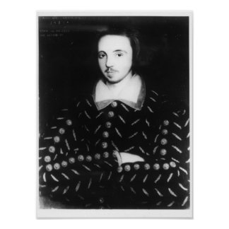 Portrait said to be Christopher Marlowe Posters