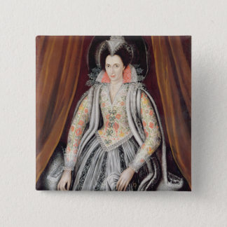 Portrait said to be Susan, Lady Grey Pinback Button