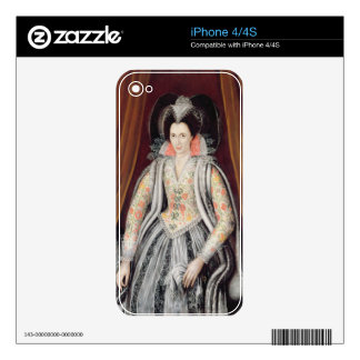 Portrait said to be Susan, Lady Grey iPhone 4S Decals