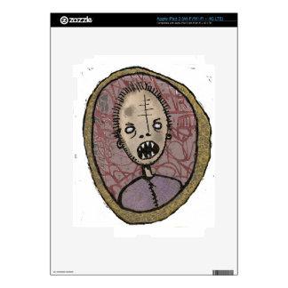 Portrait sharp teeth decal for iPad 3
