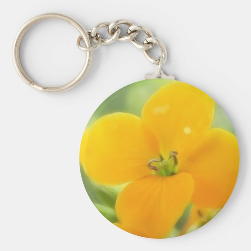 Portrait - Siberian Wallflower Basic Round Button Keychain
