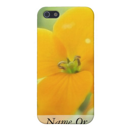 Portrait - Siberian Wallflower iPhone 5 Case