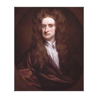 Portrait Sir Isaac Newton by Sir Godfrey Kneller Canvas Print