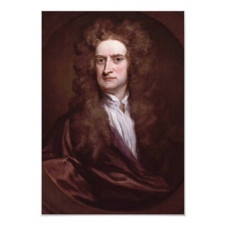 Portrait Sir Isaac Newton by Sir Godfrey Kneller Card