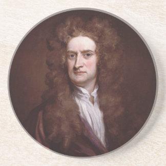 Portrait Sir Isaac Newton by Sir Godfrey Kneller Beverage Coasters
