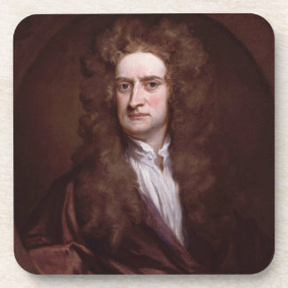 Portrait Sir Isaac Newton by Sir Godfrey Kneller Drink Coaster