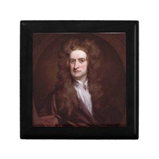 Portrait Sir Isaac Newton by Sir Godfrey Kneller Keepsake Boxes