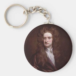 Portrait Sir Isaac Newton by Sir Godfrey Kneller Keychain