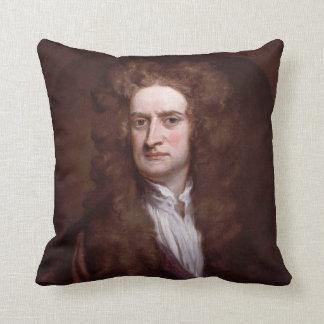 Portrait Sir Isaac Newton by Sir Godfrey Kneller Throw Pillow