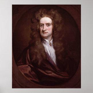 Portrait Sir Isaac Newton by Sir Godfrey Kneller Poster