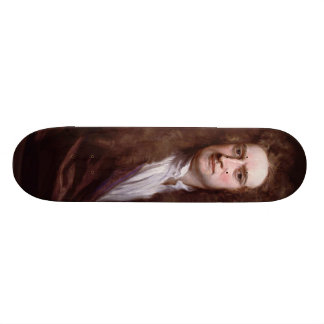 Portrait Sir Isaac Newton by Sir Godfrey Kneller Skate Board Decks