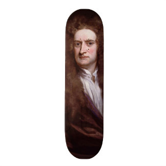 Portrait Sir Isaac Newton by Sir Godfrey Kneller Skateboard Deck