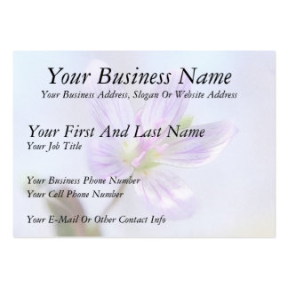 Portrait - Spring Beauty Flower Large Business Cards (Pack Of 100)