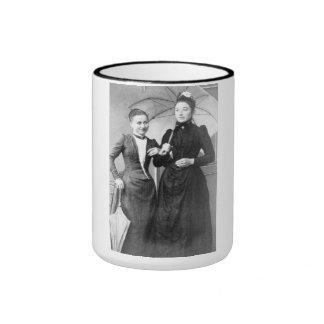 """PORTRAIT """"STOAT SISTERS"""" (1890s) Ringer Mug"""