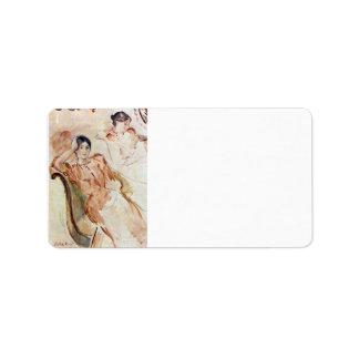 Portrait studies of Jeanne Pontillon by Morisot Address Label