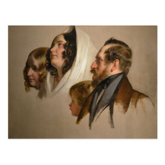Portrait Study by Friedrich von Amerling Postcard