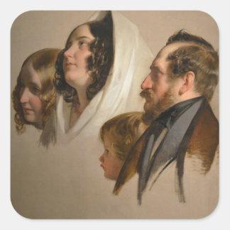 Portrait Study by Friedrich von Amerling Square Sticker