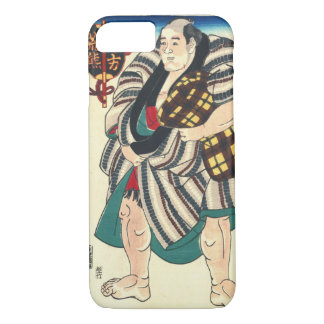 Portrait Sumo Wrestler 1847 iPhone 8/7 Case