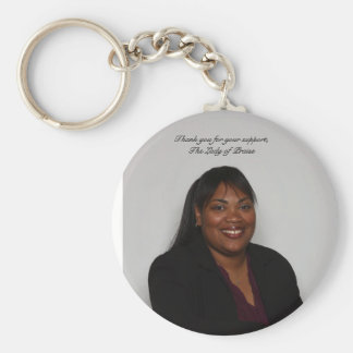 Portrait,  Thank you for your support, T... Keychains