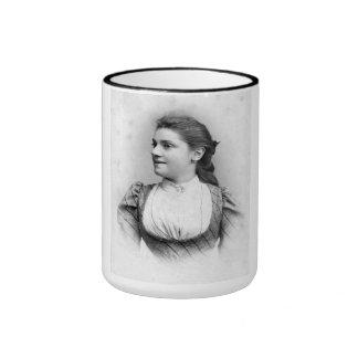 "PORTRAIT ""ULYSSIA"" (1880s) Ringer Coffee Mug"