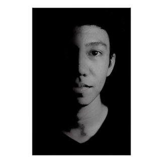 portrait urban man black white mono poster #2