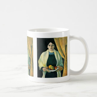 Portrait With Apples By Macke August Coffee Mug