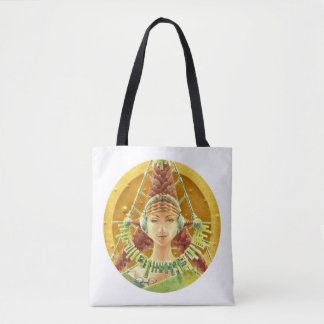 PORTRAIT WITH HEADPHONES (All over print Tote Bag)