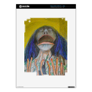 Portrait With Lizards Decal For The iPad 2