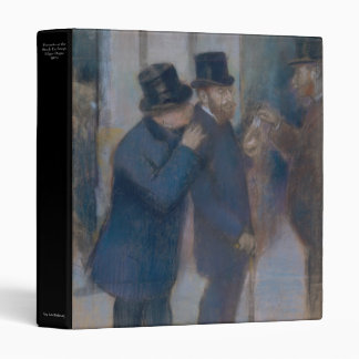 Portraits at the Stock Exchange by Edgar Degas 3 Ring Binder