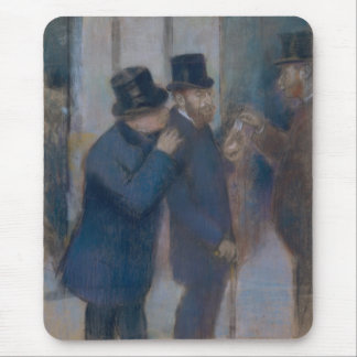 Portraits at the Stock Exchange by Edgar Degas Mouse Pad