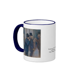 Portraits at the Stock Exchange by Edgar Degas Ringer Coffee Mug