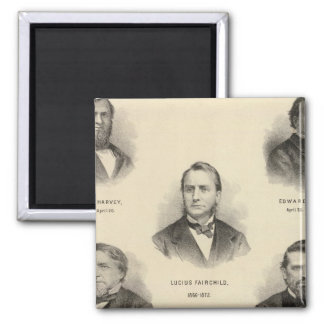 Portraits Governors of Wisconsin Louis P Harvey Magnet