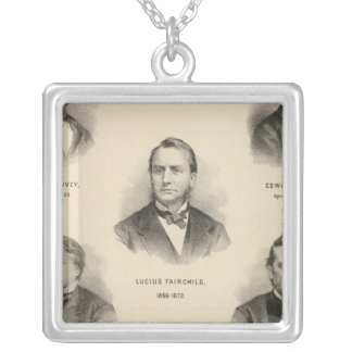 Portraits Governors of Wisconsin Louis P Harvey Silver Plated Necklace