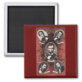 Portraits of Abraham Lincoln Vintage Magnet