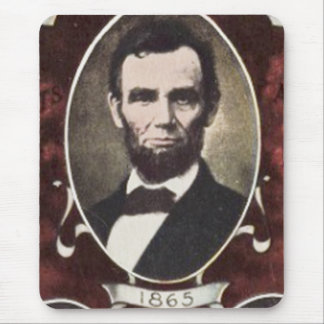 Portraits of Abraham Lincoln Vintage Mouse Pad